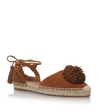 Aquazzura Sunshine Raffia Flats Female Tan