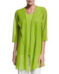 Caroline Rose Mod Mesh Draped Jacket Women's Fresh Lime