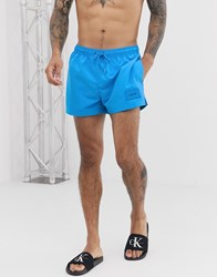 Calvin Klein Short Drawstring Swim Shorts Blue