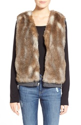 Splendid 'Ashville' Faux Fur Reversible Vest Multi