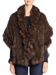 The Fur Salon Ruffle Trim Sable Stole Uptone