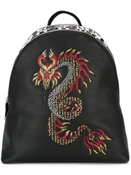 Philipp Plein Pao Pao Backpack Men Calf Leather Brass One Size Black