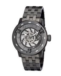 Gv2 48Mm Men's Motorcycle Sport Automatic Bracelet Watch Dark Gray