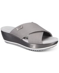 85a660168988 Anne Klein Sport Felisha Wedge Slip On Sandals Pewter