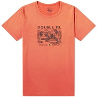 Rrl Double Rl Printed Tee Red