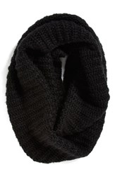 Women's Collection Xiix Ribbed Loop Scarf Black Black Paint