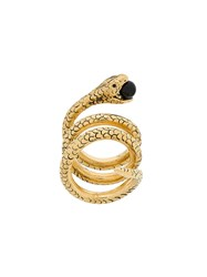 Saint Laurent Snake Wrap Around Ring Metallic