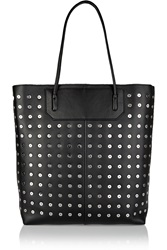 Alexander Wang Grommet Embellished Leather Tote Black