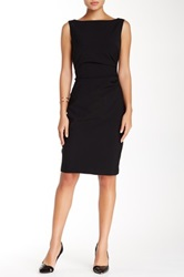 Single Dress Sleeveless Rouched Dress Black
