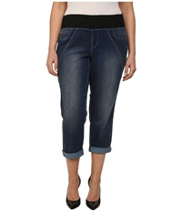 Dkny Plus Size Sculpted Leggings Rolled Crop In Conditioning Wash Conditioning Wash Women's Jeans Blue