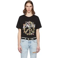Amiri Black Peace Butterfly T Shirt