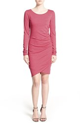 Women's Leith Ruched Long Sleeve Dress Red Chateaux Heather