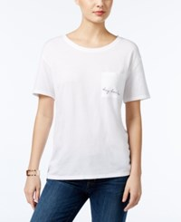 Guess Panther Pocket Graphic T Shirt True White