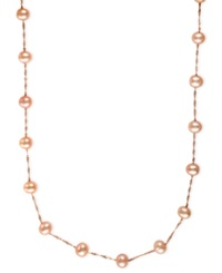 Effy Collection Effy Cultured Freshwater Pearl Station Necklace In 14K Gold 5 1 2Mm Rose Gold