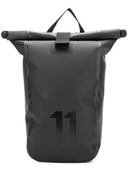 11 By Boris Bidjan Saberi Roll Top Backpack Black
