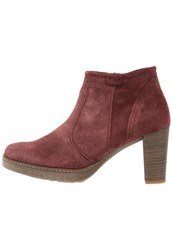 Gabor Platform Boots Dark Red