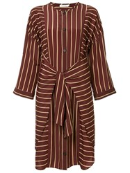 Guild Prime Striped Belted Dress Red