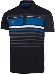 Galvin Green Men's Mayer Ventil8 Polo Black And Blue Black And Blue
