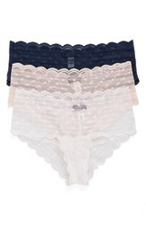 Cosabella Women's Sweet Treat 3 Pack Lace Briefs White Navy Pink Lilly