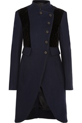 Marc By Marc Jacobs Velvet Paneled Wool Coat