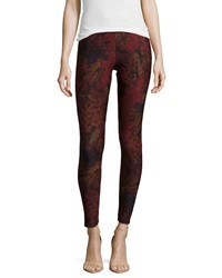 Dex Woods Print Jersey Leggings Red