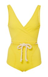 Lisa Marie Fernandez Yasmin Drawstring One Piece Yellow
