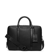 Michael Kors Bryant Large Leather Briefcase Black