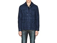 Orlebar Brown Adrian Washed Linen Field Jacket Navy