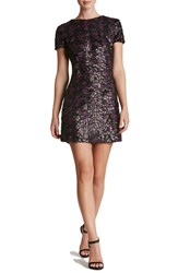 Dress The Population Women's Sequin A Line Black Fuchsia