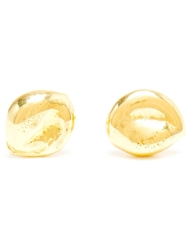 Natasha Collis 18K Yellow Gold Nugget Earrings Metallic