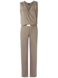 Lygia And Nanny Panelled Jumpsuit Women Polyamide 38 Brown