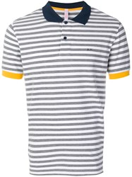 Sun 68 Striped Polo Shirt White