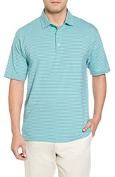 Bobby Jones 'S Crest Stripe Polo Wintergreen