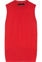 The Row Zoey Merino Wool Blend Top Red