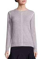 Derek Lam Piped Cashmere Sweater Grey