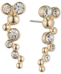 Lonna And Lilly Gold Tone And Crystal Bubble Ear Cuff