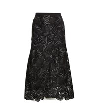 Christopher Kane Love Hearts Lace Skirt Black
