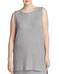 Eileen Fisher Plus Marled High Low Tunic 100 Bloomingdale's Exclusive Silver