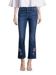Stella Mccartney Skinny Kick Flare Jeans Withfloral Embroidery Old Navy
