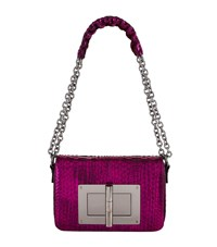 Tom Ford Medium Natalia Python Bag Pink