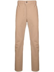 Julien David Slim Fit Chinos Nude And Neutrals