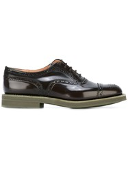 Church's Brogue Detailed Oxfords Brown