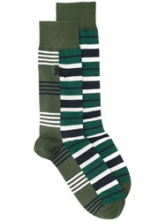 Burberry Striped Socks Green