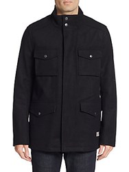Ben Sherman Melton Four Pocket Jacket Black