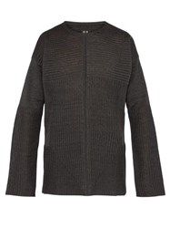Rick Owens Ribbed Knit Linen Sweater Multi