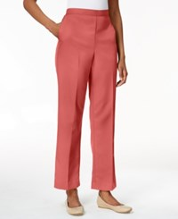 Alfred Dunner Petite Pull On Ankle Trousers Coral