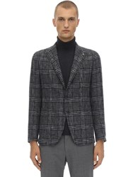 Tagliatore Single Breasted Virgin Wool Blend Jacket Grey