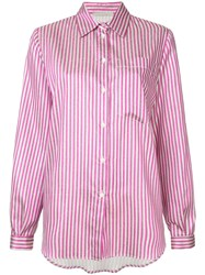 Marco De Vincenzo Striped Button Shirt Pink