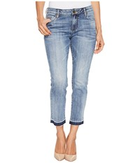 Kut From The Kloth Petite Reese Ankle Straight Leg Jeans In Motive Medium Base Wash Motive Medium Base Wash Women's Jeans Blue
