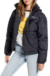 Obey Ruby Water Resistant Puffer Jacket Black